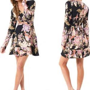 SPELL Gypsy Skies Wrap Mini Dress